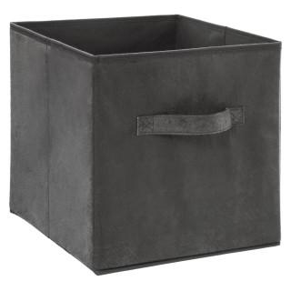 Boîte de rangement design velours Mix n' modul - L. 31 x l. 31 cm - Gris foncé