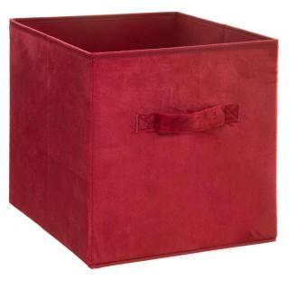 Boîte de rangement design velours Mix n' modul - L. 31 x l. 31 cm - Rouge