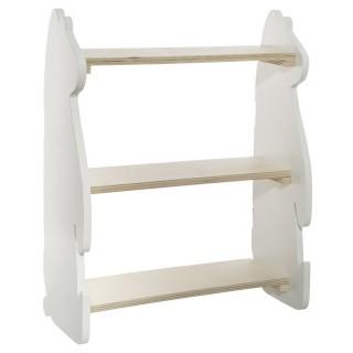 Etagère bibliothèque enfant design bois Douceur - L. 38 x H. 47 cm - Blanc