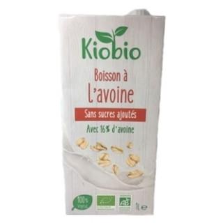 Boisson végétale BIO avoine sans sucres ajoutés  - Kiobio - brique 1l