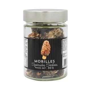 Morilles spéciales séchées sauvages bocal 30g