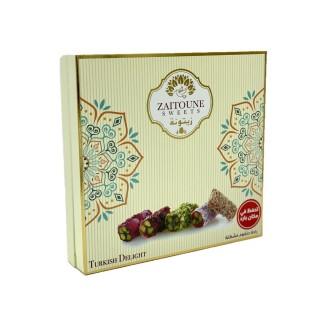 Assortiment de loukoum (raha) aux pistaches - Zaitoune - boîte 250g