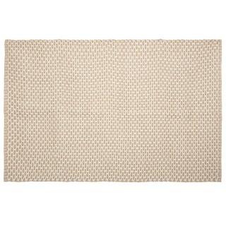 Tapis en jute croisillon au format rectangulaire - 120 x 170 cm - Beige