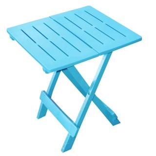 Table d'appoint pliante modèle Adige - 44 x 44 x 50 cm. - Bleu