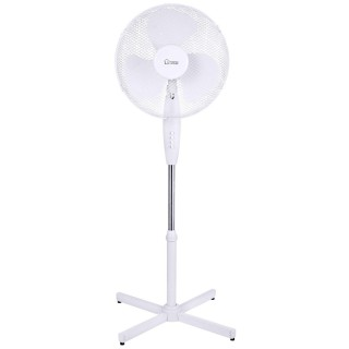 Ventilateur sur pied - Diam. 40 cm. -Blanc