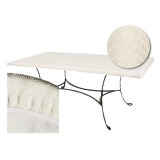 Sous-nappe protège table rectangulaire Basic - L. 100 x l. 200 cm - Blanc