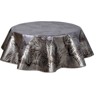 Nappe ronde en toile cirée  design Vitali - Diam. 150 cm - Noir