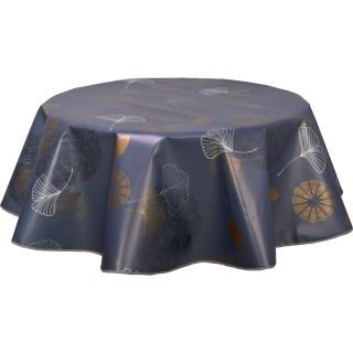 Nappe ronde en toile cirée  design Boliba - Diam. 150 cm - Gris