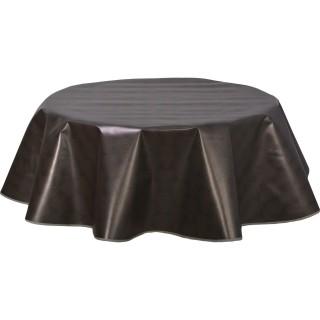 Nappe ronde en toile cirée  design Kobe - Diam. 150 cm - Noir