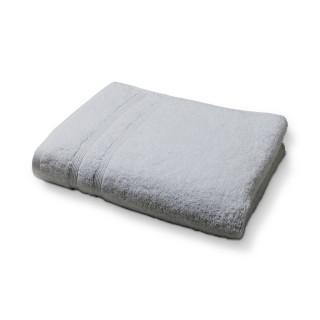Lot 2x Serviette de toilette en coton - 50 x 90 cm - Gris clair
