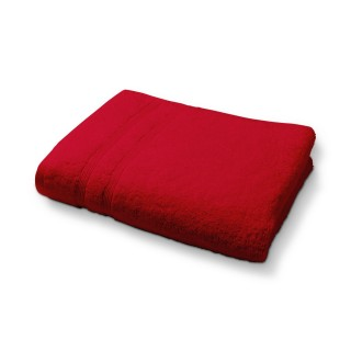 Lot 2x Serviette de toilette en coton - 50 x 90 cm - Rouge