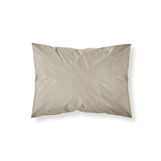 Lot 2x Taie d'oreiller Mastic - 100% coton 57 fils - 50 x 70 cm - Taupe