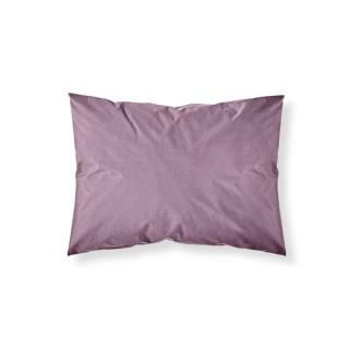 Lot 2x Taie d'oreiller Figue - 100% coton 57 fils - 50 x 70 cm - Violet