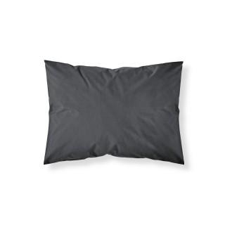Lot 2x Taie d'oreiller Réglisse - 100% coton 57 fils - 50 x 70 cm - Noir