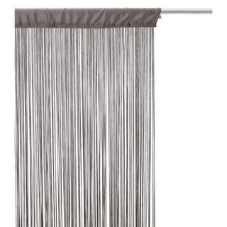 Lot 2x Rideau fils - 90 x 200 cm - Gris