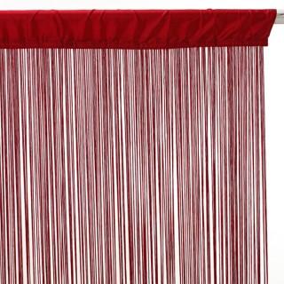 Lot 2x Rideau fils - 90 x 200 cm - Rouge