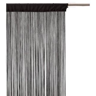 Lot 2x Rideau fils - 90 x 200 cm - Noir