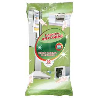 Lot 2x 30 Lingettes nettoyantes anti-gras