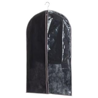 Lot 2x Housse pour vêtements - 60 x H. 100 cm - Noir et taupe