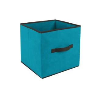 Lot 2x Boîte de rangement pour meuble - 31 x 31 cm. - Turquoise