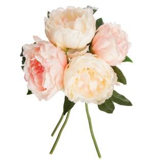 Lot 2x Bouquet de fleurs artificielles - H. 30 cm - Rose