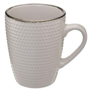 Lot 2x Mug scandinave Perle - 320 ml - Blanc rose
