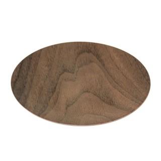 Lot 6x Assiette plate design bois Mood - Diam. 26 cm - Marron