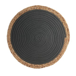 Lot 6x Set de table bord de mer Seagrass - Diam. 38 cm - Gris