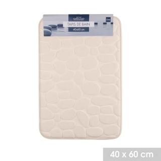 Lot 2x Tapis de salle de bain Bolbo - Mémoire de forme - Beige