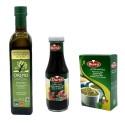 Zaatar vert, huile d'olive Bio Orino et mélasse de grenade