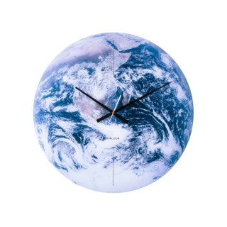 Horloge murale en verre Earth - Bleu