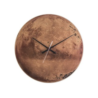 Horloge murale en verre Mars - Marron
