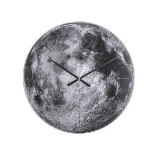 Horloge murale en verre Lune - Gris