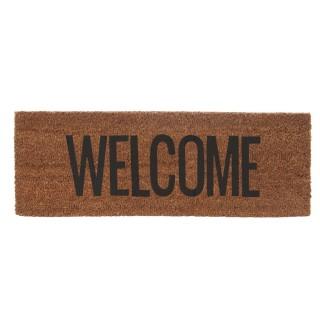 Paillasson Welcome en fibre de coco - Noir