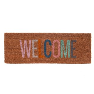 Paillasson Welcome en fibre de coco - Multicouleur