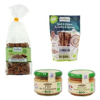 Assortiment tartinables BIO et crackers