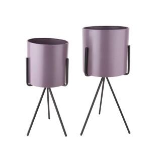 Duo de Cache-pot Pedestal XL - Violet