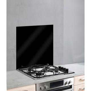 Fond de hotte en verre trempé - L. 60 x H. 70 cm - Noir