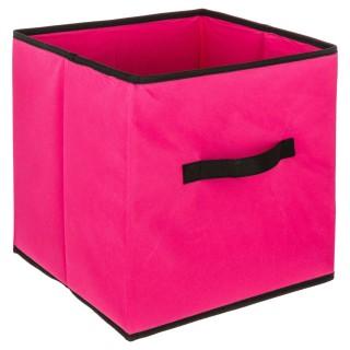 Boîte de rangement pour meuble - 31 x 31 cm - Framboise