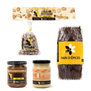 Autour du miel : nougat, bonbon, miel, pâte à tartiner, pain épices