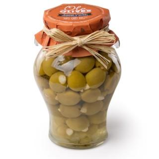 Olives Manzanilla farcies aux amandes - amphore 580g