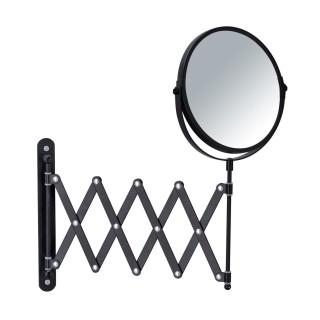 Miroir mural à bras télescopique - Noir