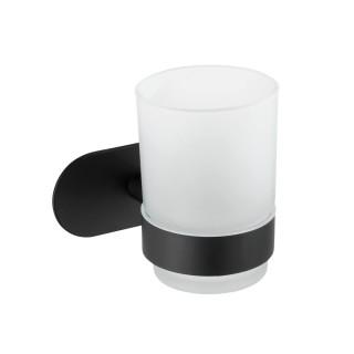 Porte-gobelet Uno Orea en acier inox - Noir
