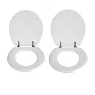 2 x Abattant WC Prima en MDF - Blanc