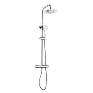 Colonne de douche design rond Rondi - Chromé brillant