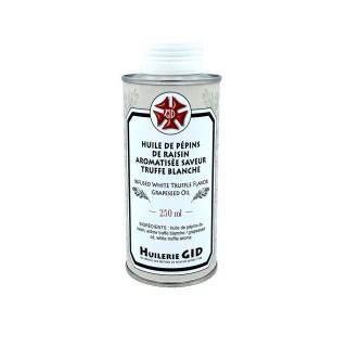 Huile pépin de raisin aromatisée truffe blanche - Huilerie GID - bouteille 250ml