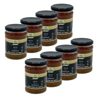 Lot 8x Condiment poire coing aux épices - Maison des Gourmets - pot 310g