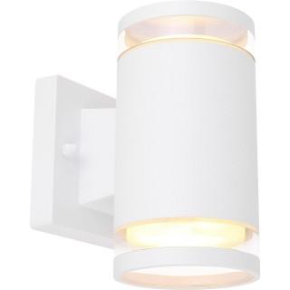 Applique d'extérieur double en Inox - H. 16,5 cm - Blanc