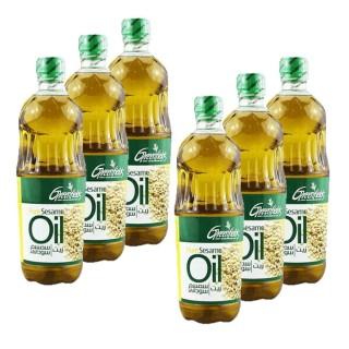 Lot 6x Huile de sésame - Greenfields - bouteille 450ml